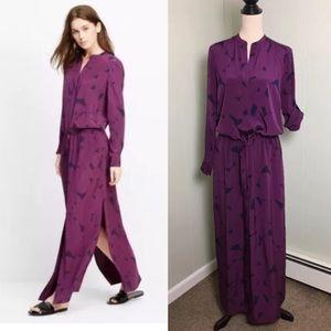Vince long silk shirt maxi dress